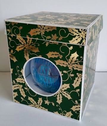100mm Bauble Ornament Box With Lift Back Lid Template